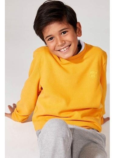 DeFacto Uzun Kollu Sweatshirt Sarı